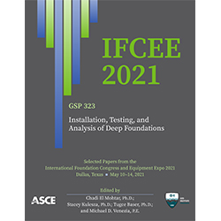 IFCEE 2021: Installation, Testing, and Analysis of Deep Foundations