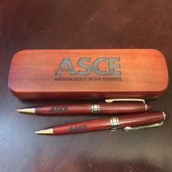 ASCE Day - Wood Pen & Pencil Set with Case